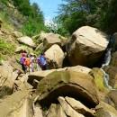 Canioning pe valea Pârăului din Munții Berzunți