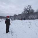 Preumblare, iarna, pe dealurile Buciumilor/BC