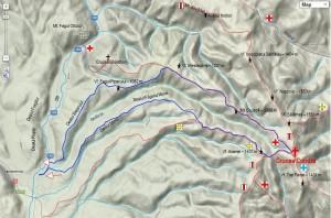 harta: Google Maps; track GPS: Radu Tabarcea
