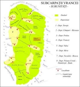 harta: Marius-Iulian Săndulache  - lector, Fac. Geografie - Univ. București - îi mulțumim pentru permisiunea de a-i utiliza harta