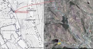 - situația din 1890/1945 (harta: Geo-spatial.org); - foto: Google Earth