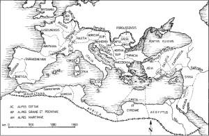 Harta Imperiului Roman - sec. II-III Moesia Inferioară, după 118 d.Cr. apud Nicolae Gudea, op. cit.