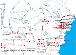 Dunărea de Jos și Moesia între 101-275 - apud Nicolae Gudea - op. cit.